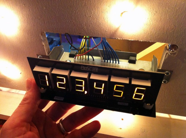 PinScore display custom pinball machine